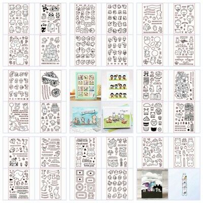 Mixed Cartoon Transparent Silicone Clear Rubber Stamp Sheet Cling Scrapbook Card