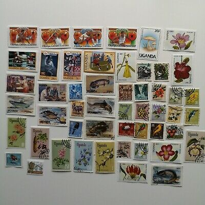 50 Different Uganda Stamp Collection