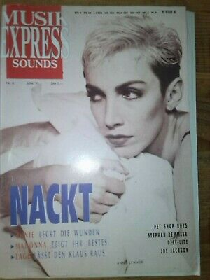 Musik Express SOUNDS Juni 1991 Annie Lennox MADONNA KLAUS LAGE Pet Shop Boys