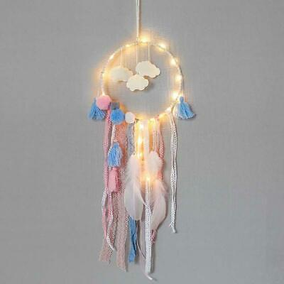 Handmade Cloud Dream Catcher LED with feather wall car hanging Decor ornament