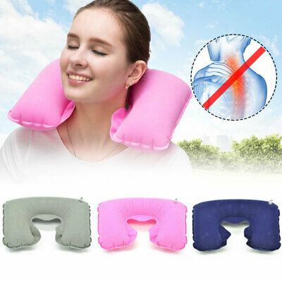 Hot Inflatable Travel Neck Pillow - Soft Flight Rest/Support Cushion Head & Neck