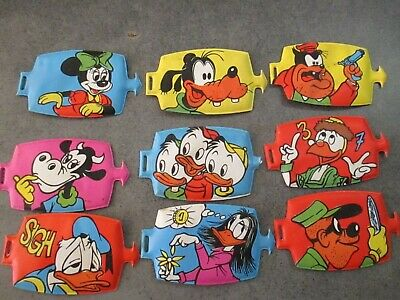 "Hit Parade Walt Disney ""Aggancio"" - Plasteco Mio Locatelli - Lotto 9 Pezzi"