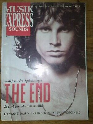 Musik Express SOUNDS Mai 1991 JIM MORRISON The Doors Nina Hagen Motörhead KLF