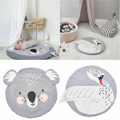 Baby Newborn Soft Cotton Game Activity Play Mat Crawling Blanket Floor Rug UK