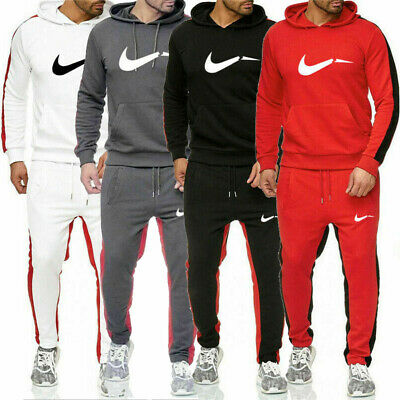 Mens Hoodies Fleece Sport Tracksuits Sweatshirts Pullover Sweatpants Sets Jogger