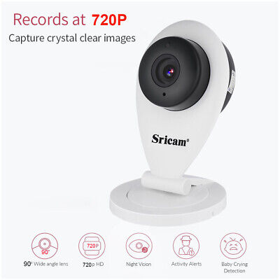 720P HD Wireless WIFI IP CCTV Camera Smart Home Security Night Vision Indoor L