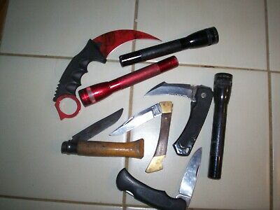 Large Junk Drawer Lot - Coins - Jewelry - Knives - & Mitchel Reels & More