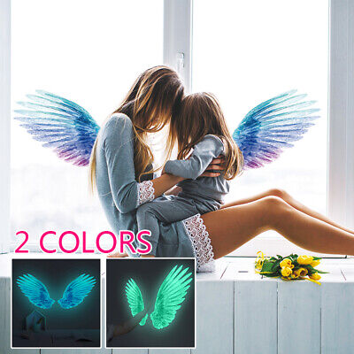 Luminous Feather Wall Stickers Home Decoration Glow In The Dark Mural Art Decal