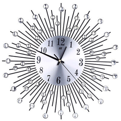Modern Large Wall Clock 3D European Iron Silent Watch DIY Decor Easy install UK