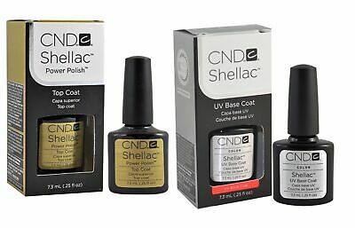 CND Shellac Base coat + Top coat Nagellack Super Qualität