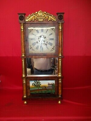 Very Nice Looking Old Original 8 Day Birge & Fuller Triple Decker Weight Clock