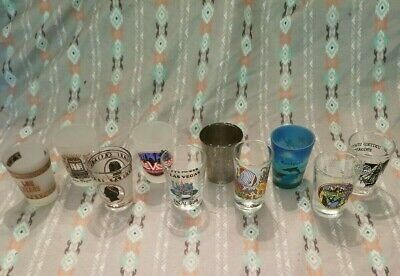 LOT OF 10VintageShot glass Glasses - Collector from Las Vegas, TX, and more