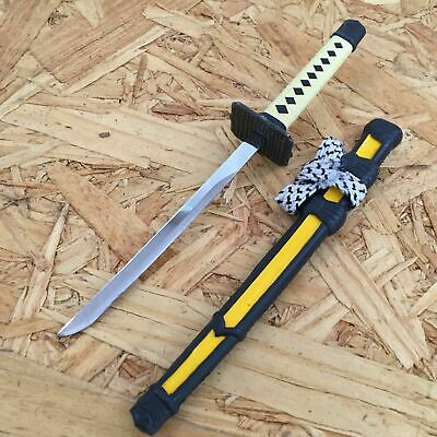 NEW! Yellow Mini Japanese Samurai Sword Letter Opener Gift w/ Display Stand I