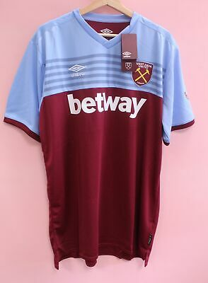 Men's UMBRO West Ham United 2019-20 Home Shirt Size 2XL With Tags - Y99