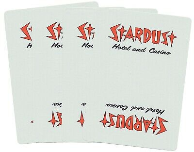 Casino Playing Cards - Stardust Las Vegas Used Uncut Vintage Deck *