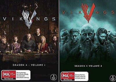 VIKINGS Complete Season 4 Parts 1 - 2 : NEW DVD