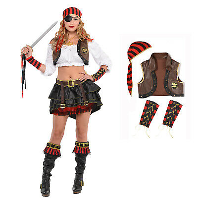 Adults Dress-Up Kit Swashbuckler Fancy Dress Outfit Accessory