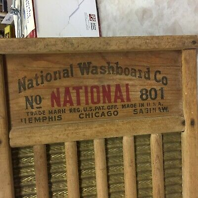Vintage Antique National Washboard Co The Brass King NO. 801 Old Wash Board