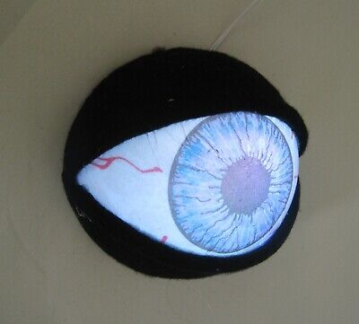 Lighted Large Eyeball Halloween Party Hanging Wall Decoration