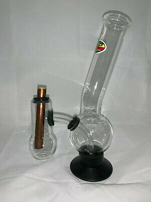 Double Chamber Large Glass Bong 30cm *FREE SHIPPING* Pyrex Tobacco BEST ON EBAY