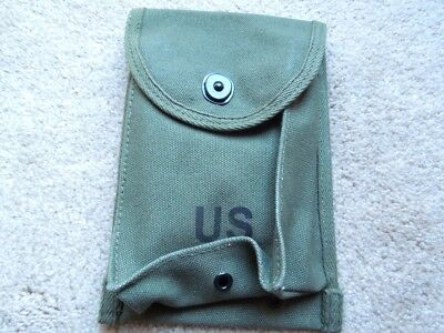 USGI  WW2 Type .30 M1  Carbine 30rd. 4cellOD Mag Pouch