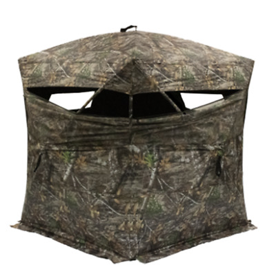 Ground Blind Oversized Rhino Blind Realtree Camo Deer Hunting Hub Style Blind