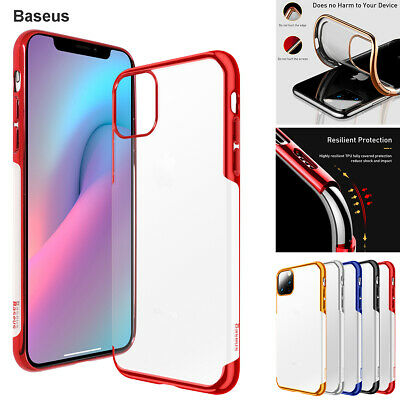 Baseus Clear Case for iPhone 11 Pro Max Soft TPU Shockproof Plating Bumper Cover