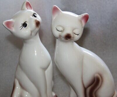 Cat figurine tall cats sitting cats 25 cm tall pair of cat figurines two cats