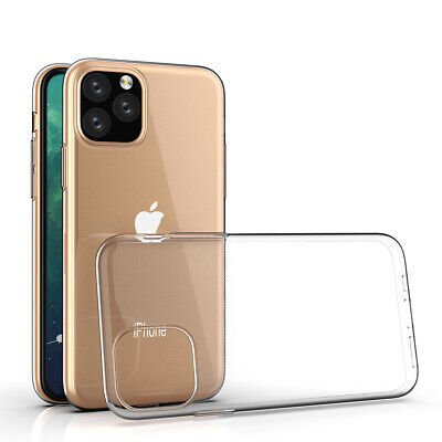 For Apple iPhone 11 Pro Max Ultra Thin Transparent Clear Shockproof Bumper Case