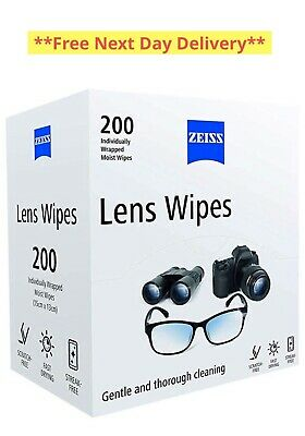 ZEISS Lens Wipes Pack of 200 Gentle Thorough Cleaning For Glasses/Phone/Camera