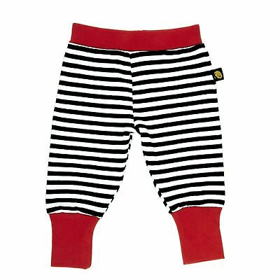 New Rockabye Baby Baggy Trousers Black and Red¦Super Soft Cotton¦Washable¦3-6m