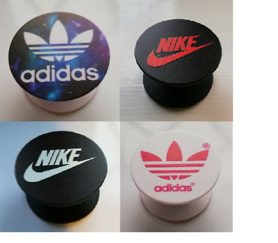 Adidas Nike logo badge Poppet Phone socket Holder Selfie Grip Mobile Phones pop