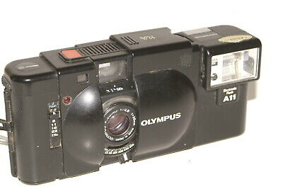Olympus XA camera with A11 flash