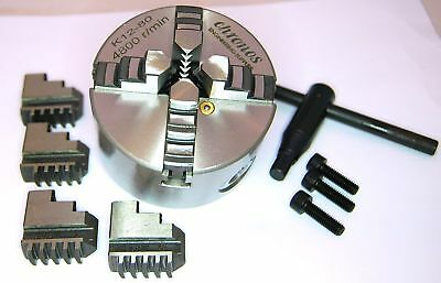 80 MM 4 Jaw Self Centering Lathe Chuck (Ref: K1280) From Chronos