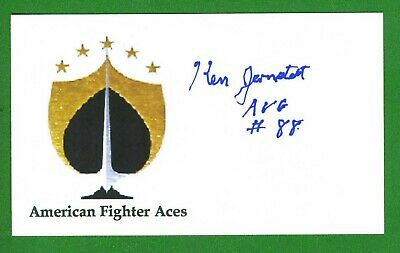 Ken Jernstedt DECEASED WW2 Fighter Pilot Ace-10V Flying Tiger Signed Card E19552