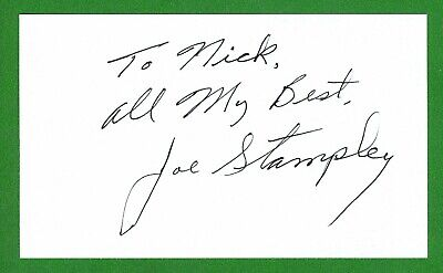 Joe Stampley Country singer -Roll On Big Mama Signed 3x5 Index Card T2827
