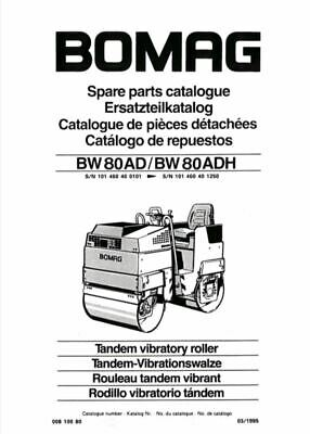 PDF Download Bomag Spare Parts Catalogue Tandem Vibratory Roller BW 80 AD ADH