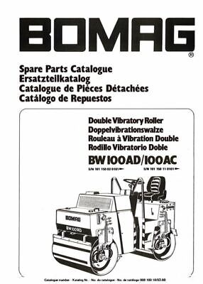 PDF Download Bomag Spare Parts Catalogue Double Vibratory Roller BW100 AD