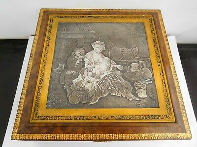 Very Rare Victorian French White Metal Mounted Box - After Jean Baptiste Greuze