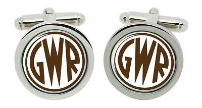 GWR Great Western Railway Crest Cufflinks in Chrome Box