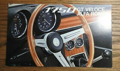 "1968 ""The Alfa Romeo 1750 Gt Veloce"" Sales Brochure Fold-Out Very Nice"