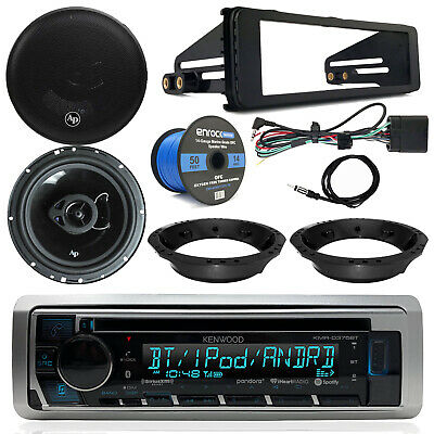 Harley Davidson Kenwood CD Receiver, Audiopipe Speakers, Speaker Wire, Dash Kit