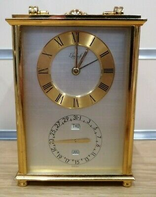 Lovely Very Rare Antique Imhof Solid Brass Carriage Clock With Alarm A313