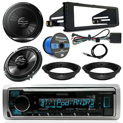 Kenwood Receiver, Pioneer Speakers, Speaker Wire, Dash Kit  (98-13 Harley FL)