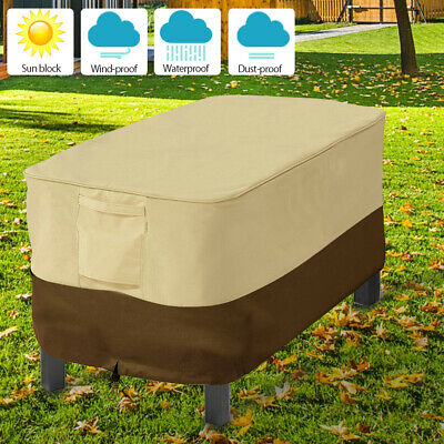 PU Waterproof Lounge Patio coffee Table Dust Cover Garden Furniture Protector