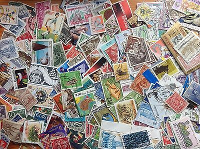 50 grams WORLD STAMPS off paper