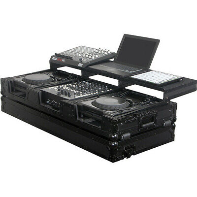 ODYSSEY FZ10CDIWBL BLACK LABEL FLIGHT READY ATA CD PLAYER//MIXER DJ COFFIN CASE
