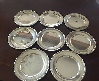 S Kirk & Son Set of 8 Sterling Silver Bread And Butter Plates #58