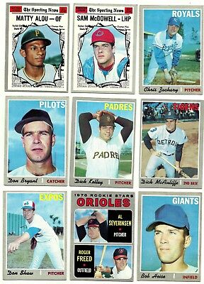 1970 TOPPS COMPLETE YOUR SET - 460 to 546 - PICKEM - 2 for $1.99