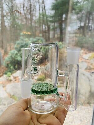 USA Made 14mm Thick Honeycomb Ash catcher~Ash Catcher~14mm Joint~ Water Glass